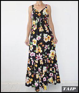Papaya Czarna Sukienka W Kwiaty 40 6478184312 Oficjalne Archiwum Allegro Dresses Fashion Maxi Dress