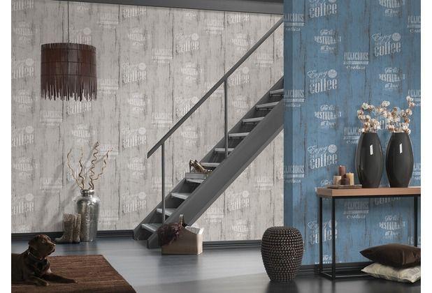 Coole Tapete für die Küche! Tolles Printdesign, mit Begriffen aus - dunkelblaue kche