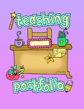 Freebie Teaching Portfolio Cover Page And Spine Dobibee Designs