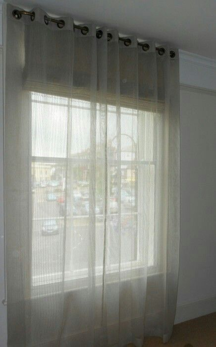 Sheer Curtains Over Blinds Can Let Light In Without Being Totally