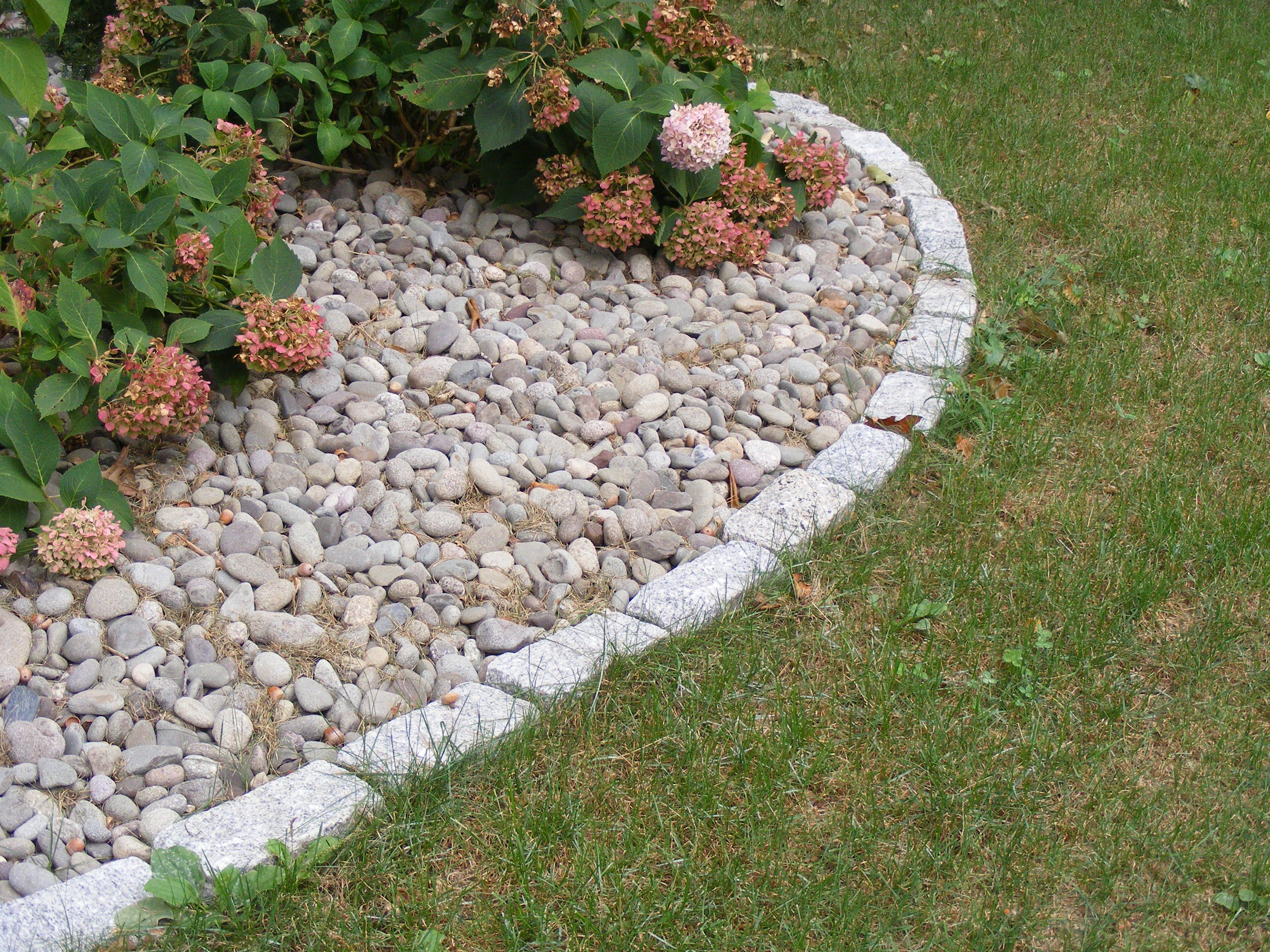Garden Driveway Edging Landscaping With Rocks Rock Mulch Driveway Edging