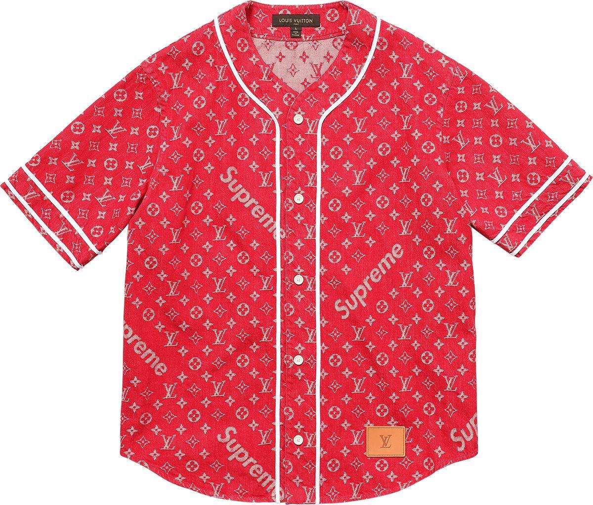 ff6400c6861a03 Supreme Louis Vuitton/Supreme Jacquard Denim Baseball Jersey | A ...