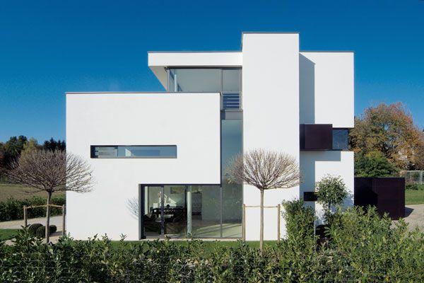 Strakke witte woning voorbeeldhuizen pinterest raam for Moderne strakke huizen