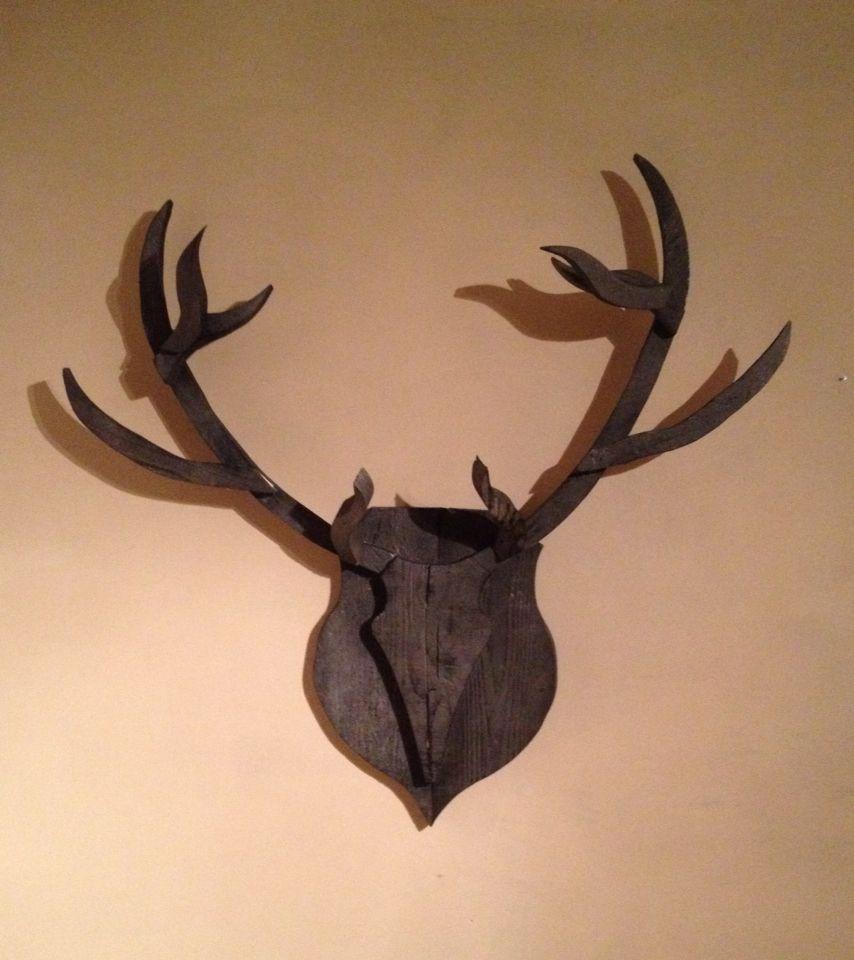 rendier gewei gebruikt steigerhout zwart rendier