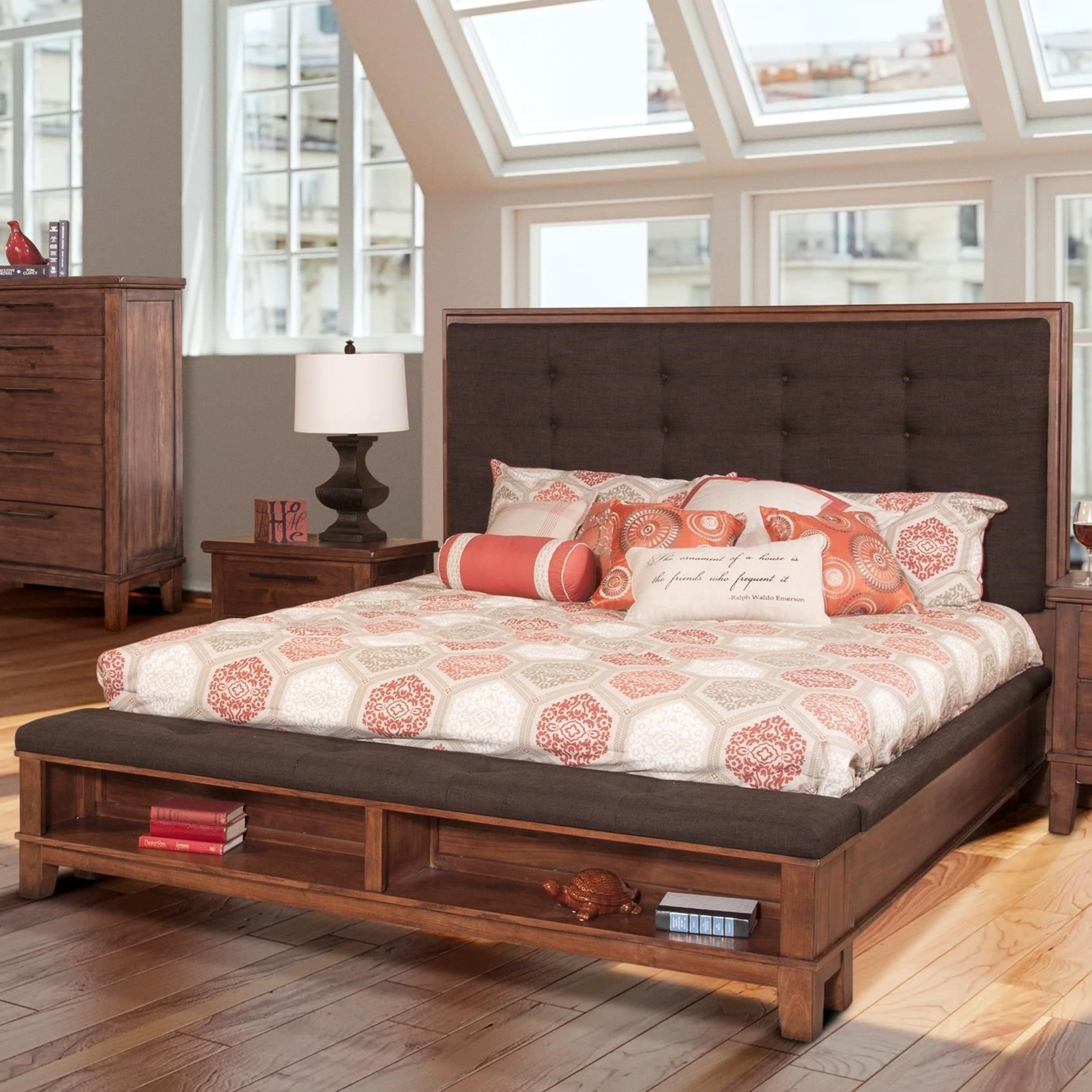 Cagney Queen Platform Bed by New Classic at Great American