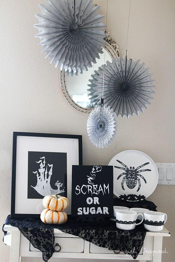 Shriek to Chic Halloween Party Decor Pinterest Chic halloween - halloween party decoration ideas