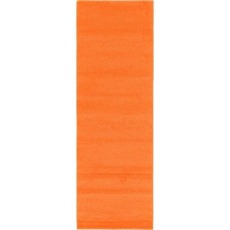 Unique Loom Solid Shag Rug, Orange
