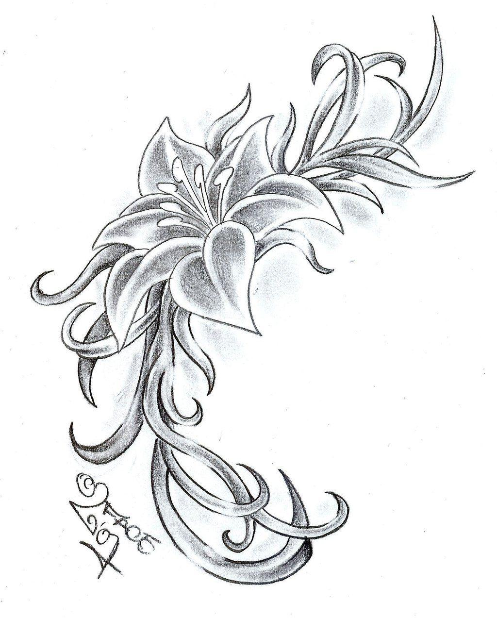 Flower_Climb_Tattoo_Design_by_2Face_Tattoo