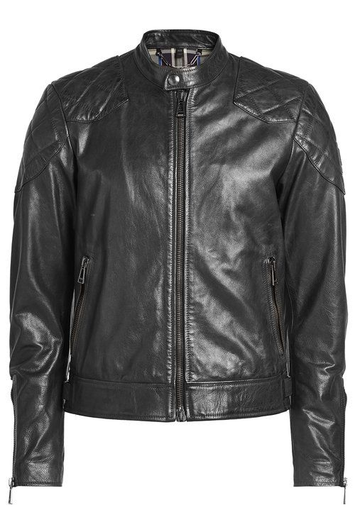 BELSTAFF Leather Jacket With Quilted Patches. #belstaff #cloth #