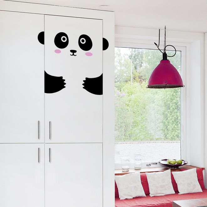 'Peppy The Pretty Panda' door friend decal from Ivy Cabin