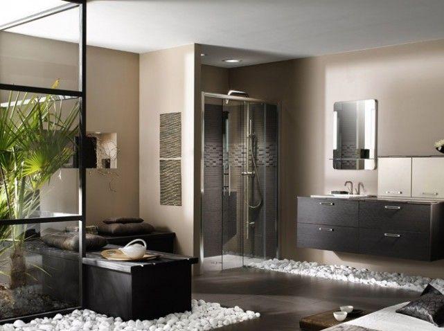 Nos id es d co pour la salle de bains salle de bain zen for Salle de bain zen galet