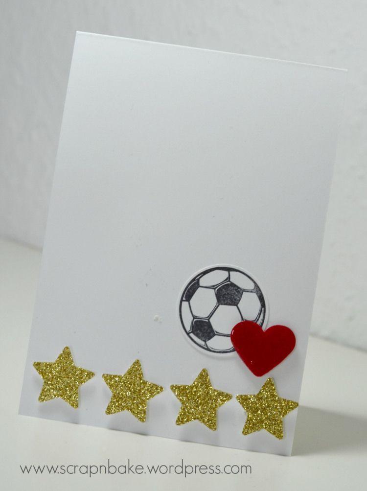 Stampin' UP! - Great Sport - Weltmeister - Fußball - 4 Sterne