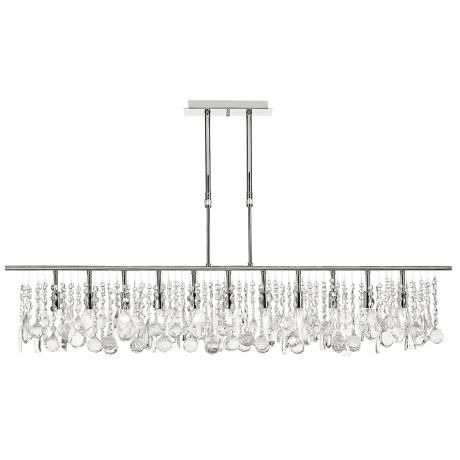 Luminous Collection 48 Wide Crystal Chandelier – Linear Chandelier Crystal