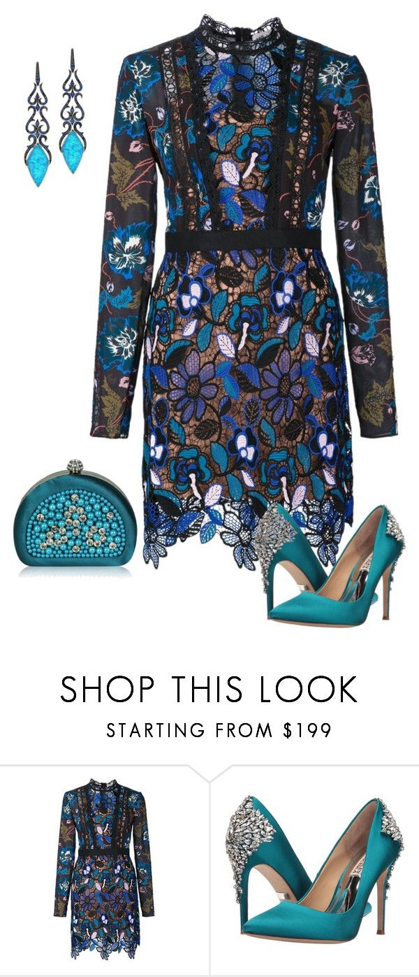 """""""Untitled #183"""" by angelbear38 ❤ liked on Polyvore featuring self-portrait and Badgley Mischka"""