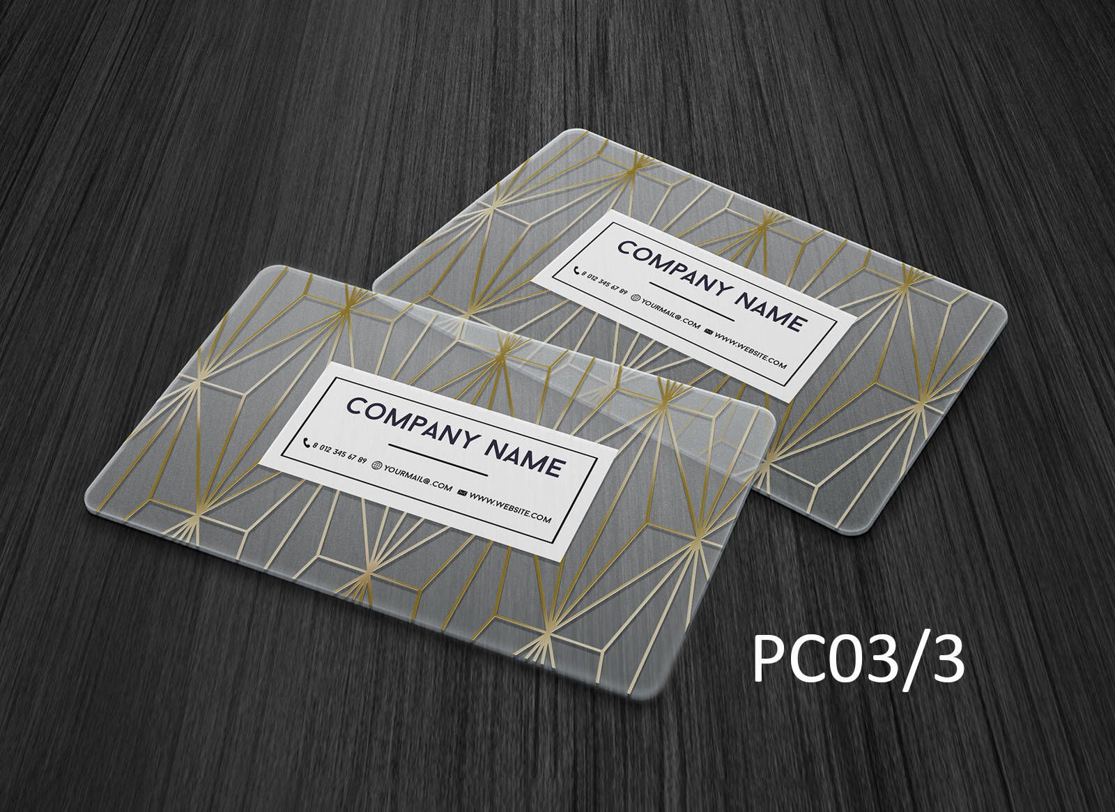 Gold Foiled Plastic Pvc Personal Business Name Card Custom Design Template Clear Call Personal Business Cards Plastic Business Cards Transparent Business Cards
