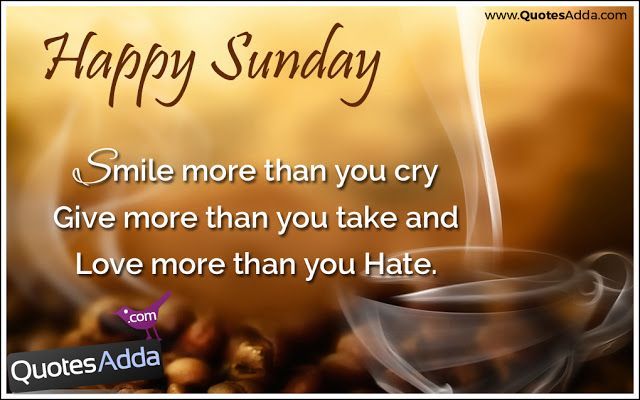 Whatsapp English Smile Give Love Beautiful Words For Sunday Morning
