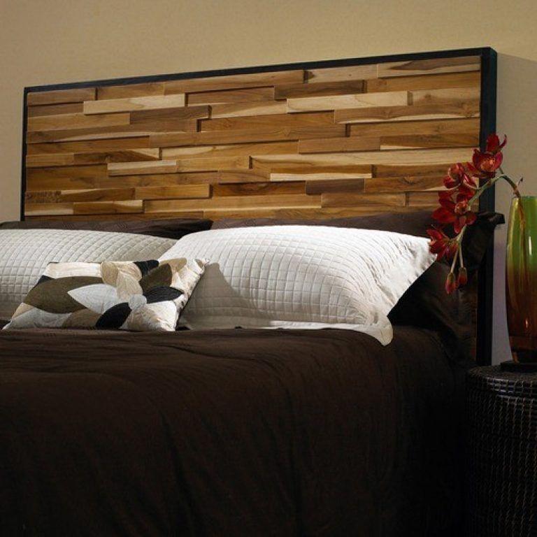 Inspiring Natural Wood Headboard Bedroom Attractive Modern