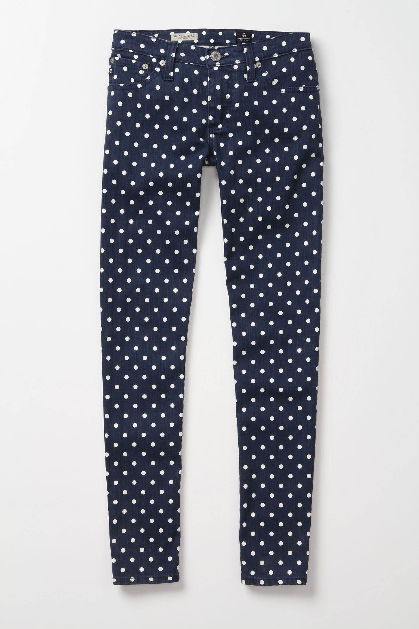 polka dot pants: anthropologie
