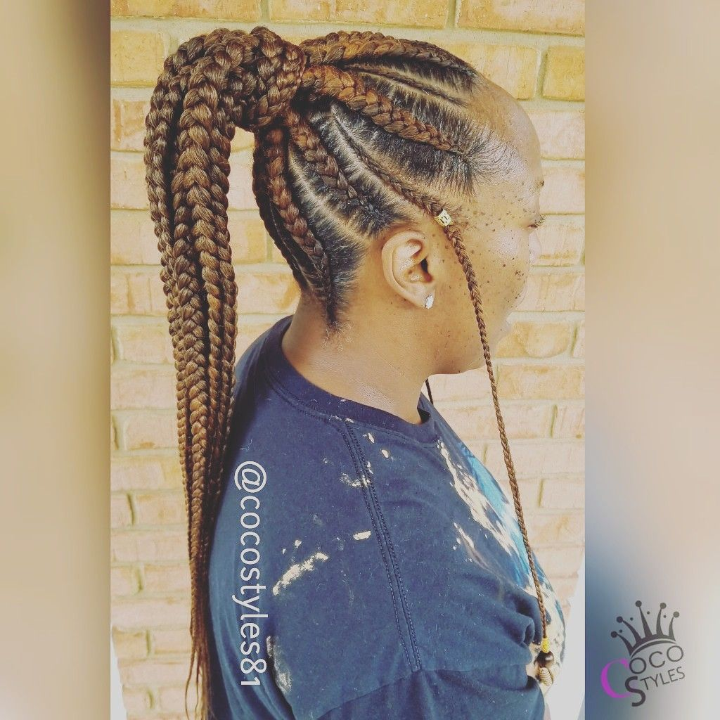 Medium Feed In Ponytail Book Under Feed In Box Braid Combo July Schedule Opens June 1 Feed In Ponytail Feed In Braids Ponytail Kids Braided Hairstyles