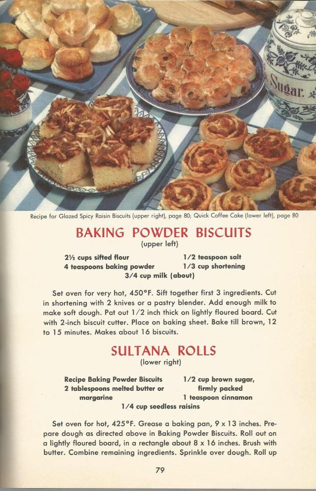 Vintage Recipes 1950s Breads Doughnuts And Muffins 1950s Food Vintage Baking Retro Recipes