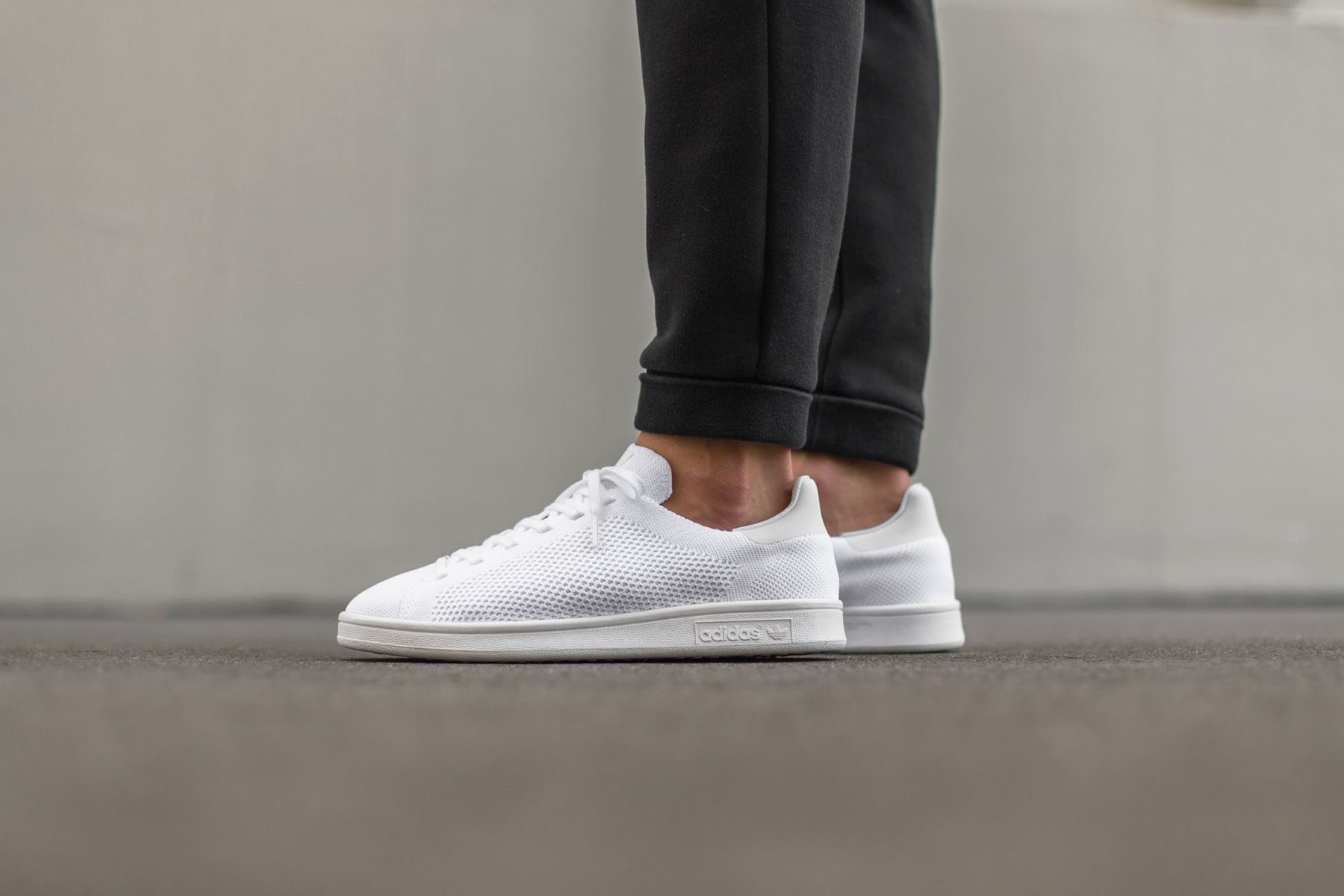 adidas white, adidas Originals Stan Smith Primeknit Trainers