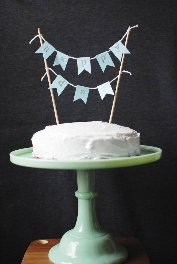 Quick Crafty Cake Bunting Farm Fresh Therapy Diy Pinterest