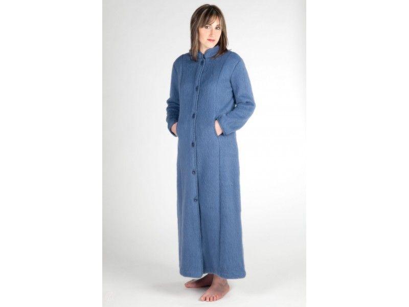 Robe De Chambre Boutonnee Col Mao En Laine Des Pyrenees Val D Arizes Robe De Chambre Laine Robe