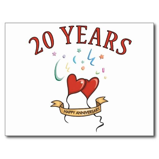Twentieth Wedding Anniversary Gift: 20th Wedding Anniversary Gifts Postcard