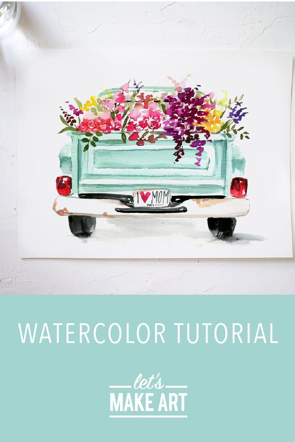 Floral Truck Watercolor Kit In 2020 Watercolor Kit Let S Make