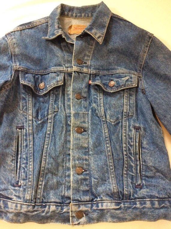 Levi S Vintage Denim Jean Jacket Men S Size 40r Red Vintage Denim Jeans Jean Jacket Men Vintage Denim