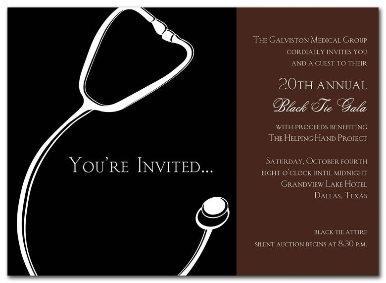 Medical Gala - Graduation Announcements by Invitation Consultants - gala invitation wording