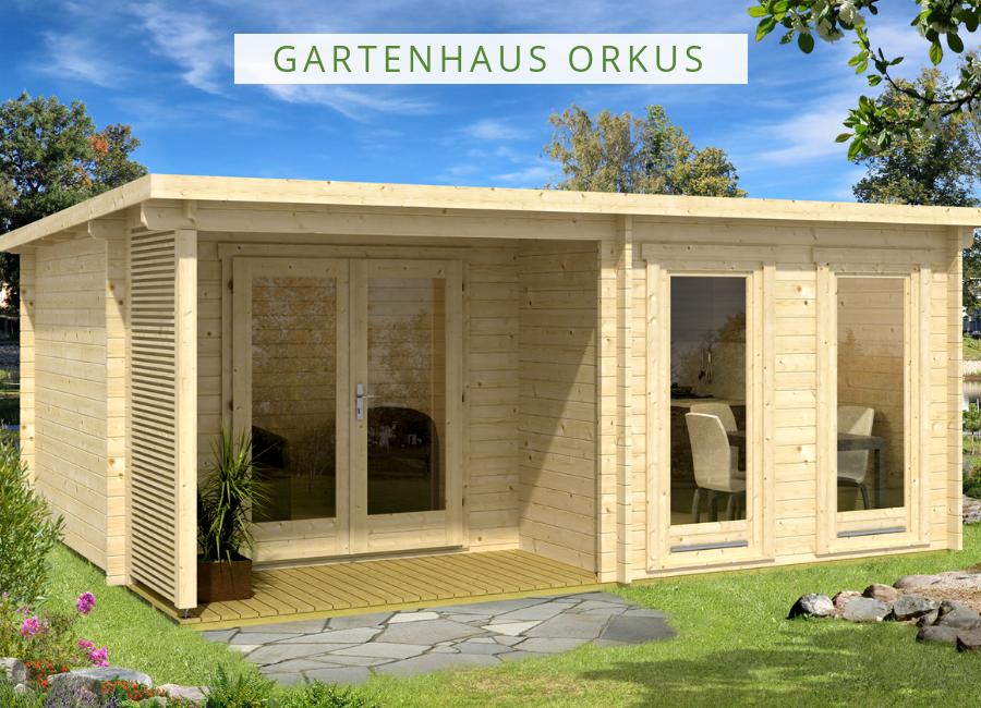 Gartenhaus Modell Orkus44 Gartenhaus pultdach