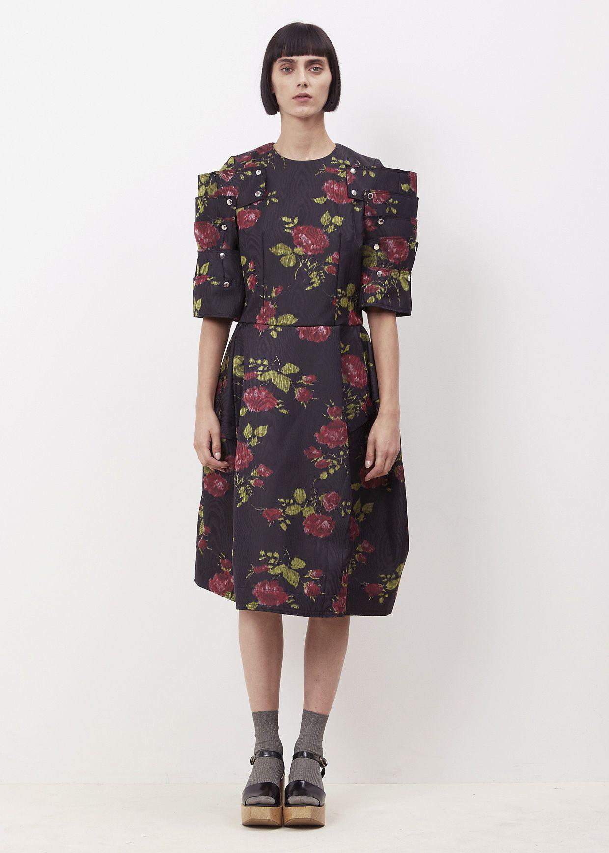 Totokaelo - Comme des Garcons GIRL Black Multi Floral Dress