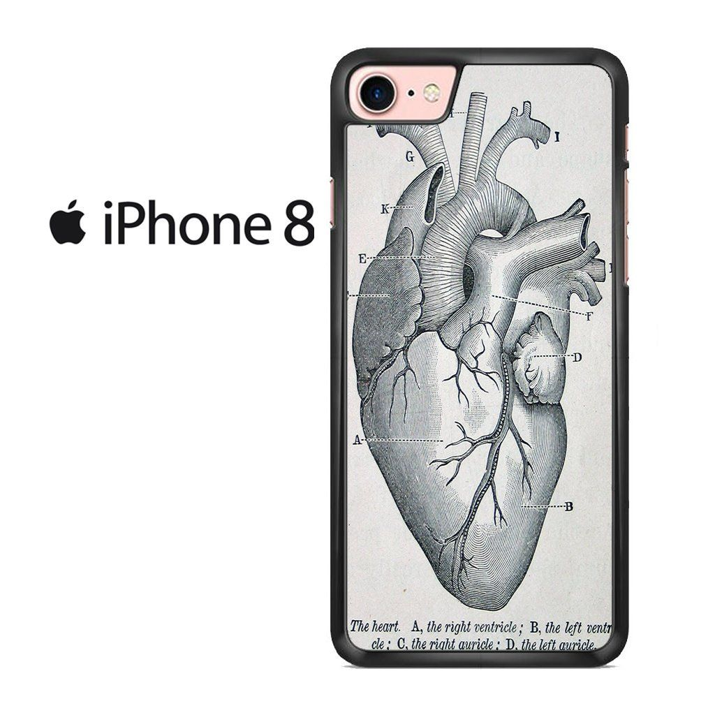 Medical Heart Diagram Iphone 8 Case