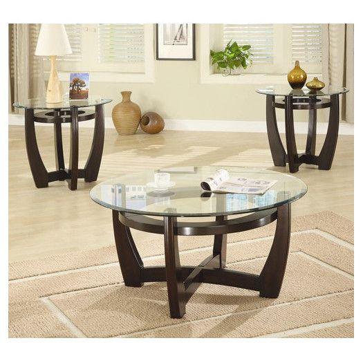 Best Wildon Home ® Susanville 3 Piece Coffee Table Set Coffee 400 x 300