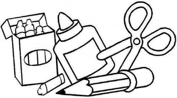 Dibujos de utiles escolares para colorear para niños   Imagui