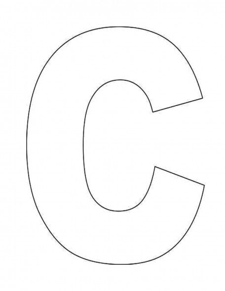 Alphabet-Letter-C-Template-For-Kids Alphabet Pinterest - letter i template