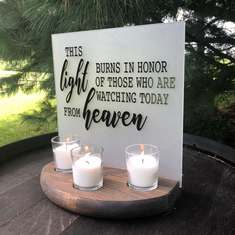 Wedding Memorial Sign Acrylic Wedding Sign Memorial Candle | Etsy