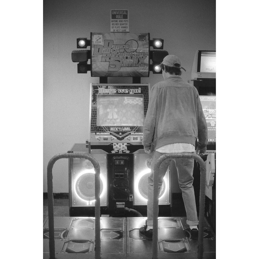 On instagram by lmnk44 #arcade #microhobbit (o) http://ift.tt/1OmNP5T it #35mm #nikonfm2 #fomapan #bw #ddr #dancedance #filmphotography #losangeles
