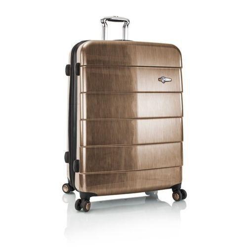 """Heys Cronos Elite Luggage 30"""" Fashion Spinner Hardcase Suitcase TSA Bronze"""