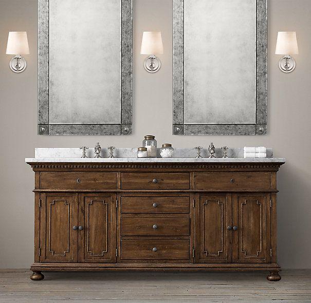 James Double Vanity Restoration Hardware Bathroom Sink