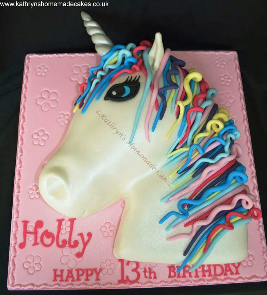2d Unicorn Head Birthday Cake Unicorn Cake Childrens Birthday