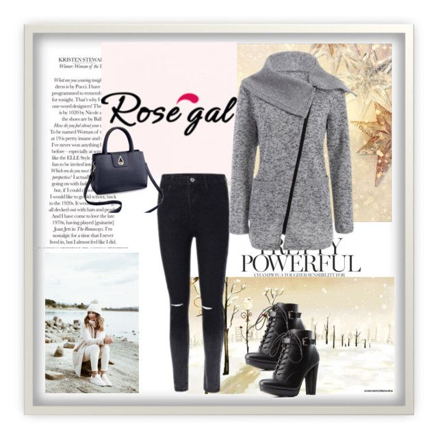 """""""Rosegal 46"""" by divi121314 ❤ liked on Polyvore featuring Kaisercraft, Charlotte Russe, coat, women and rosegal"""