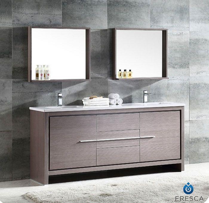 72 Inch Fresca Allier Bathroom Vanity Fvn8172Go  Tanyas Toronto Mesmerizing 72 Inch Bathroom Vanity Double Sink Design Inspiration