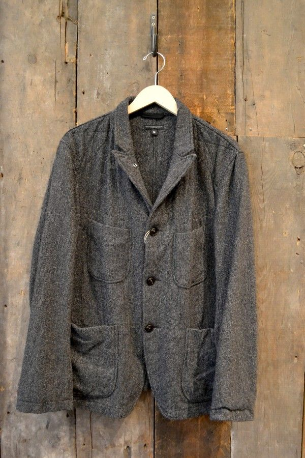 a195cfab2aaf Engineered Garments Bedford Jacket Grey All Wool Herringbone   Style ...