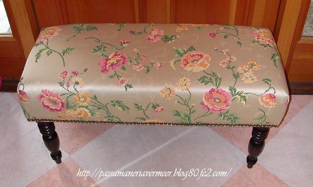 ベンチ(S13) ***「Chez Mimosa シェ ミモザ」   ~Tassel&Fringe&Soft furnishingのある暮らし  ~   フランスやイタリアのタッセル・フリンジ・  ファブリック・小家具などのソフトファニッシングで  、暮らしを彩りましょう     http://passamaneriavermeer.blog80.fc2.com/
