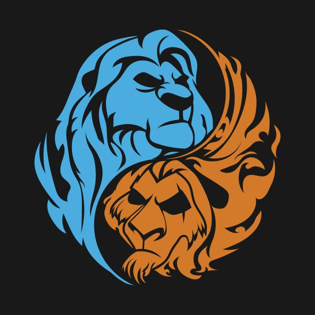Картинки инь янь львы