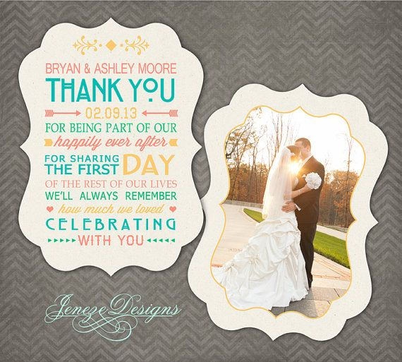 Luxe Wedding Thank You Card shop Template Item TC018