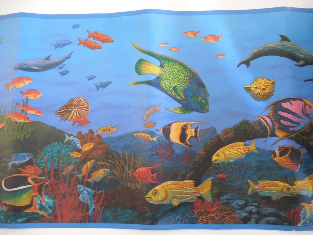 "Tropical Ocean Fish Wallpaper Border 5' x 10"" New!"