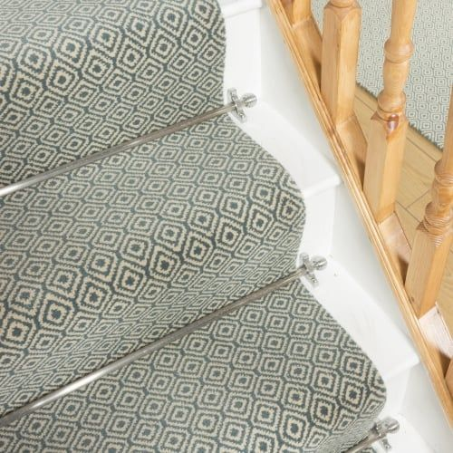 Best Quirky Tess Duck Egg 7003 Stair Runner Carpet Runner 640 x 480